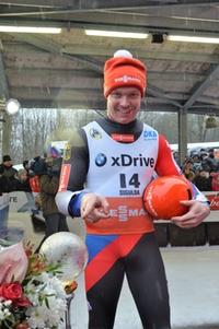 Felix Loch mit Pokal