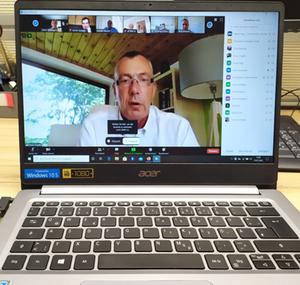 Einars Fogelis online meeting
