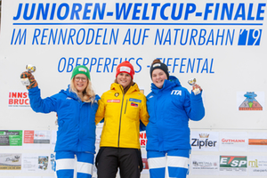 Finale Juniorenweltcup Oberperfuss Podium Damen 2019
