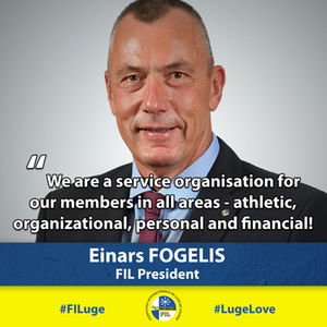 Einars Fogelis, new FIL President